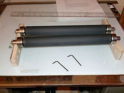 Golding Official #4 ROLLERS + TRUCKS  Rubber letterpress rollers  6 x 9 chase