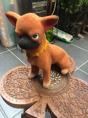 Metal Brown And Black Chihuahua Bank Solid And Strong