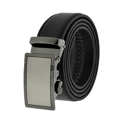 Comfort Click Leather Automatic Belt Men's Buckle Lock Dress New