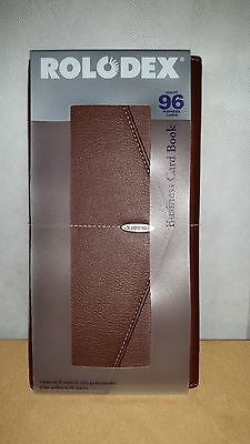 Business Credit Card Wallet Case Low Profile Rolodex Holds 96 Brown