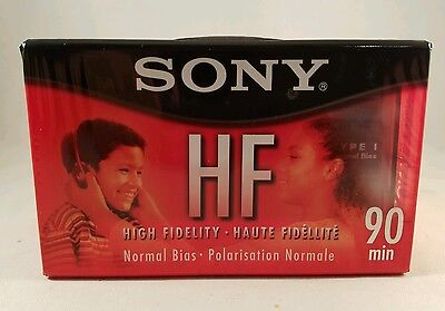Lot of Sony High Fidelity HF Type I 90 Minute Cassette Tapes New Factory Sealed