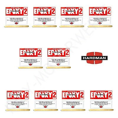 EPOXY RED 2 NON SAG 3.5g DOUBLE BUBBLE 04008 FAST SET PACKET 10 PACKS INCLUDED