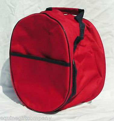 Rhinegold Short Riding Jodphur Boot and/or Hat Storage Bag RED