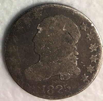1825 Capped Bust Dime  AG Detail Silver Make Us An Offer CB4