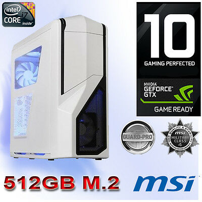 Gamer PC Intel I7 6800K-64GB-Nvidia GTX1080 8GB Gaming-Win10-M.2 512GB-410