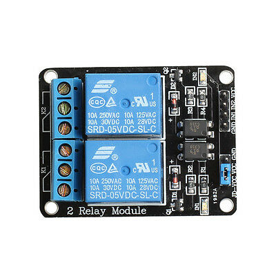 2-Channel Relay Module Optocoupler Expansion Board Single-chip Control New GYTH