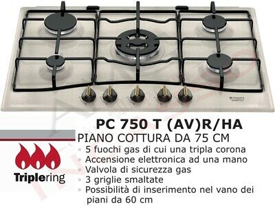 Piano Cottura Hotpoint Ariston PCN750T(AV)R/HA 5 Fuochi  Avena PC750TAVR/HA