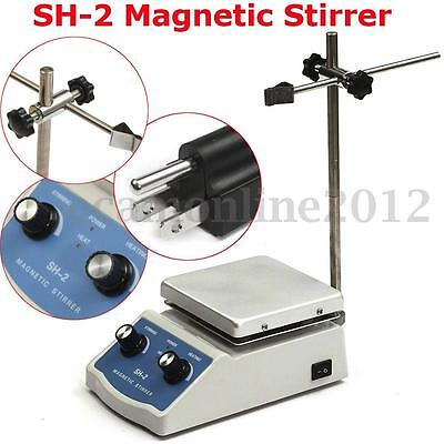 110V/50Hz SH-2 Agitatore magnetico Magnetic Stirrer Hot Plate Dual Control