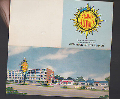 Quality Courts Motels 1960s Message Card Memphis Tennessee