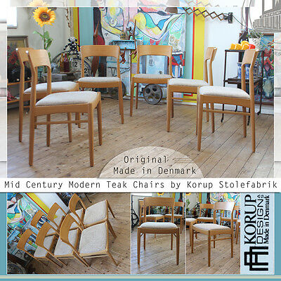 MID CENTURY MODERN KORUP TEAK CHAIR STUHL VINTAGE CHAISE MADE IN DENMARK 60ties