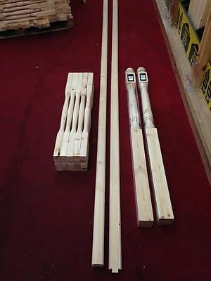 Pine Staircase and Landing Balustrade Kit with 41mm Value Turned Spindles