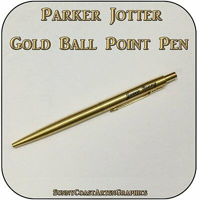 Parker Jotter Classic Gold Gt Biro Pen - Personalised Engraved New
