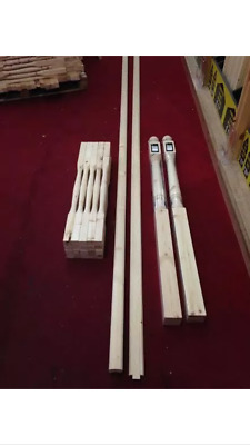 Budget Pine Staircase and Landing Balustrade Kit with 32mm Value Spindles