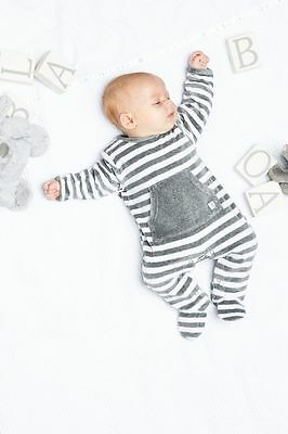 Velour winter Baby boy girl unisex 0-3 6 months sleepsuit new gift grey all in