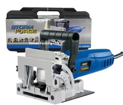 Draper 900W Biscuit Joiner Jointer Wood Work Saw Cutter + Case Storm Force