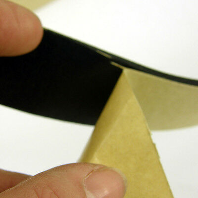 NEOPRENE RUBBER SELF ADHESIVE STRIP  30 mm 10m LONG x 2mm or 3mm THICK