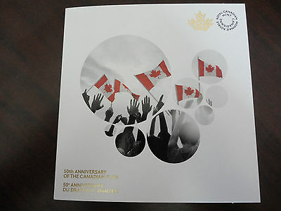 2015 50th Anniversary of Canada Flag Quarter (25 Cent) Collector Card, No Coin