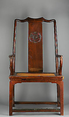 Chinese or USA Wooden Chair Mid 20th c Possibly a US Copy from the 1930's