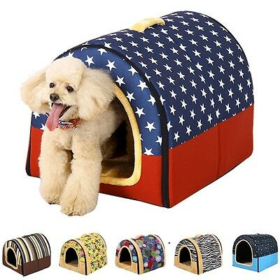 Stylish Pet House Dog Cat Kennel Puppy Kitten Bed Sleeping Cushion High Quality