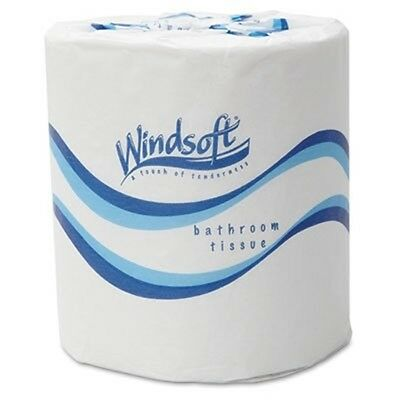 "Windsoft® Facial Quality Toilet Tissue, 4 1/2"" x 3"", 500/Roll, 2-Ply, White"
