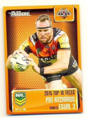2016 NRL Traders Pieces of puzzle PP04/90 TRIES - Tigers Pat Richards