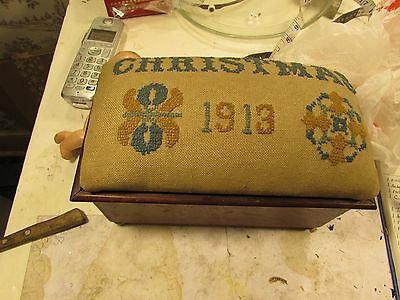 Antique Handcrafted Box, Christmas 1913
