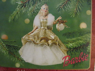 2000 Hallmark CELEBRATION BARBIE Ornament #1 in Series NEW Holiday