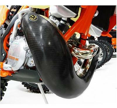 P3 Carbon Fiber Pipe Guard for KTM 2011-16 250 350 w/ FMF GNARLY 101064-FMF