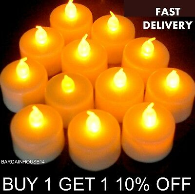 New White Color LED Tea Lights Flameless Candles Battery Operated TeaLights