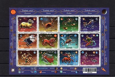 2015 Zodiac Stamp Block of 12 - MNH impossible to find very rare