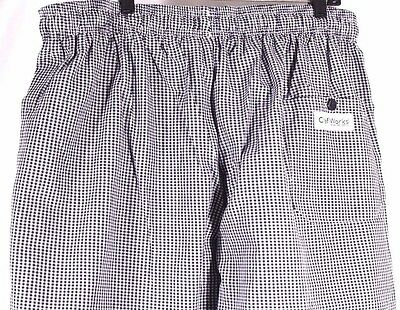Chef Works Baggies Size 3XL Checkered Chef Pants Poly Cotton Blend NWOT