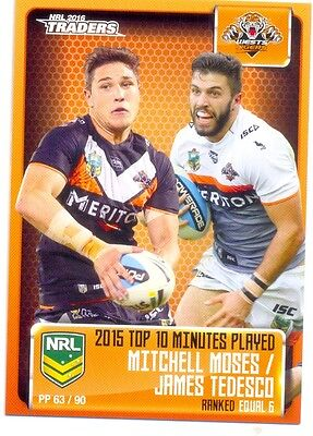 2016 NRL Traders Pieces of puzzle PP63/90 Minutes player Tigers Moses/Tedesco