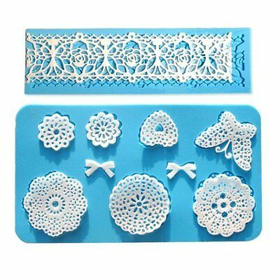 Vivin Lace Silicone Mold Mould Fondant Cake Decoration Baking Bakeware Flower in