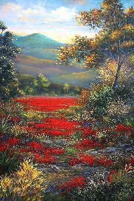 """A.D. Greer  """"Landscape with Autumn Road"""""""