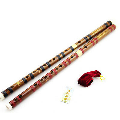 Traditional Chinese Musical Instrument Handmade Dizi Bamboo Flute in G Key SEAU