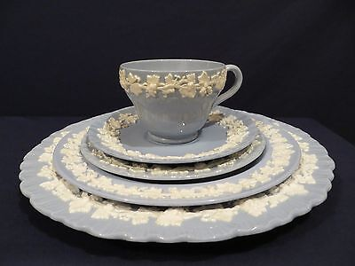 Wedgwood Blue and White Queensware Place Setting