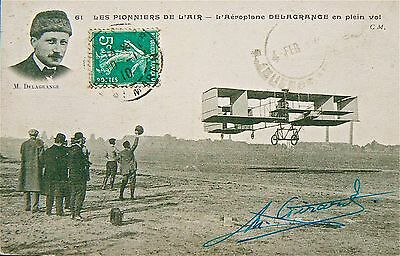 Postcard.leon Delagrange 1873-1910 (Killed).early French Aviator.to Argentina.