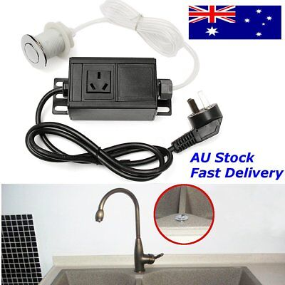 AU Garbage Disposal Air Switch Button w/ Plug For Massage Chair/Spa 220 - 380V E