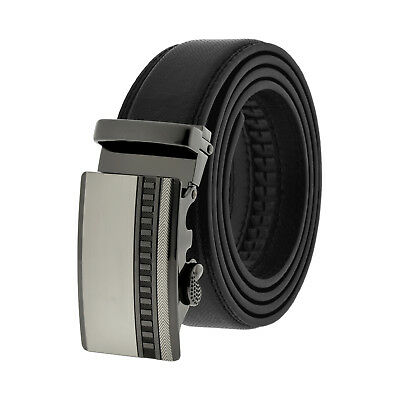 NEW Men's Fashion Automatic Ratchet Buckle Leather Removable Belt Jeans