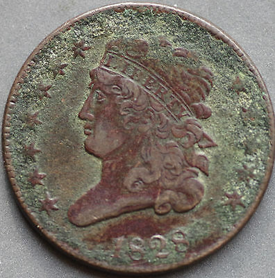 1828,   Half cent,   United States,   This coin for your collection ?