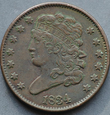 1834,   Half cent,   United States,   This coin for your collection ?