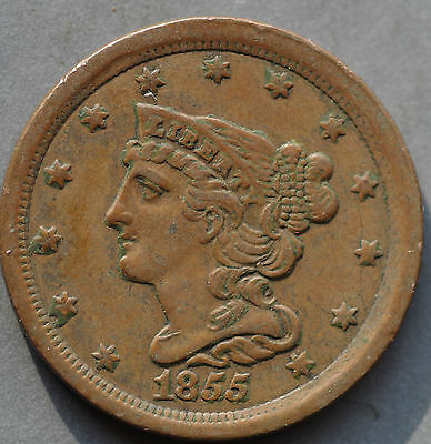 1855,   Half cent,   United States,   This coin for your collection ?