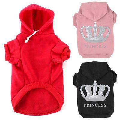 Winter Casual Print Pet Dog Clothes Warm Hoodie Coat Jacket Clothing For Dog Cat