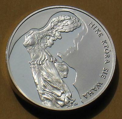 SILVER COMMEMORATIVE 10 ZL COIN POLAND - POLISH POET ZBIGNIEW HERBERT (MINT) Ag