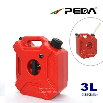 3L Portable Jerry Can Gas Plastic Fuel Tank Petrol ATV UTV Motorcycle/Car Gokart