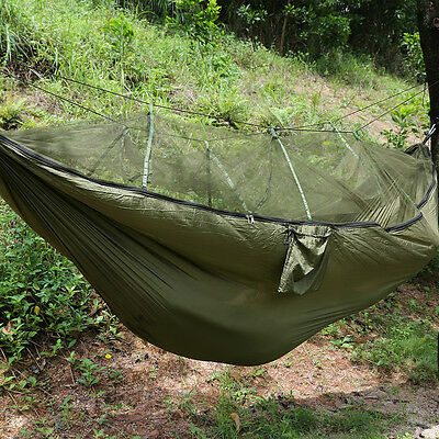 High Strength Hammocks Portable Jungle Camping Hammock Mosquito Net Military AU