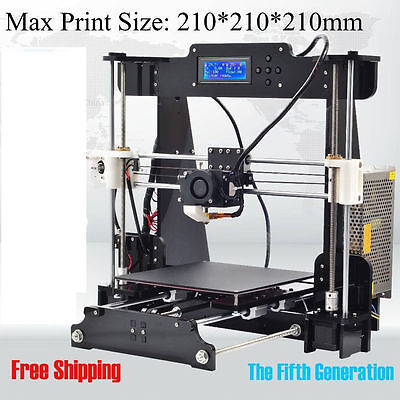 STAMPANTE 3D kit PRUSA NEW I3S CON DISPLAY LCD sd card IN OMAGGIO! 210x210X210mm