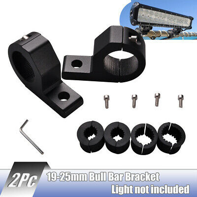 "19 25mm 1"" inch Bull Bar Roll Tube Mount Bracket Clamp LED Light Bar offroad HID"