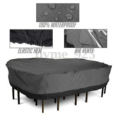 """108"""" Patio Outdoor Furniture Winter Cover Large Rectangular Table Chair Garden"""