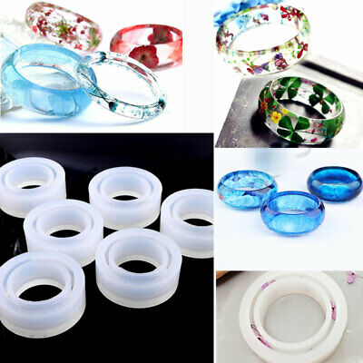 Bangle Bracelet Jewelry For DIY Resin Making Mold Round Silicone Casting Mould